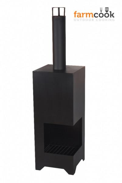 Terrassenofen Stahl DALLAS, schwarz