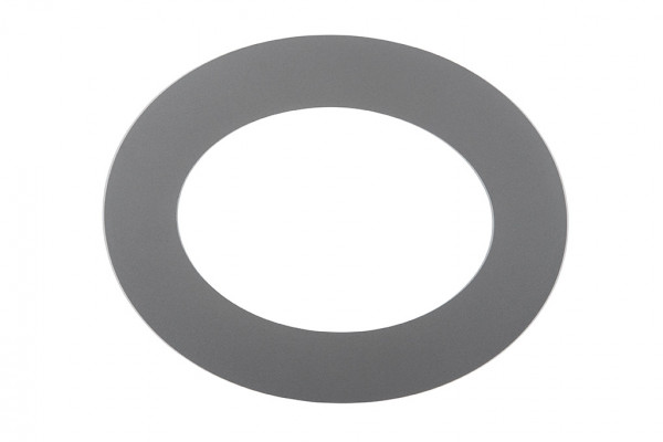 Wandrosette Rauchrohr Stahl 45° oval Ø 150 mm hellgrau