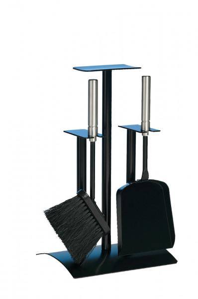 Kaminbesteck Lienbacher aus Stahl, 2- teilig, schwarz beschichtet
