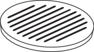 Ofenrost Gusseisen, Ø 20 cm