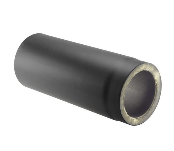 Rauchrohr Stahl doppelwandig 750 mm Ø 150 mm schwarz