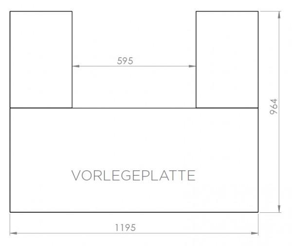 Vorlegeplatte ESG Klarglas Nordpeis Kaminbausatz Pisa