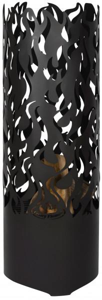 Feuerkorb Stahl Flammen, 118 x 39 x 39 cm