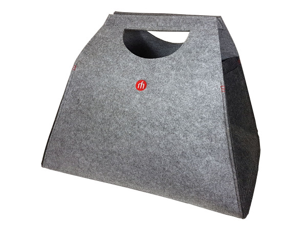 Holztasche FILZWERK grau, 53 x 60 x 40 cm