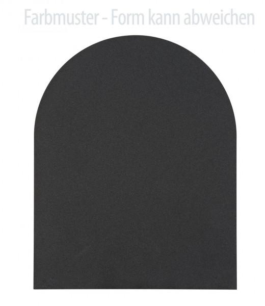 Kamin Bodenplatte, 2 mm Stahl, Rundbogen 1000 x 1250 mm, schwarz