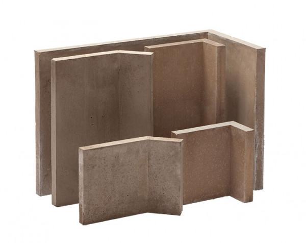 Kaminbauplatte Winkel 90°, 700 x 350 x 500 x 35 mm