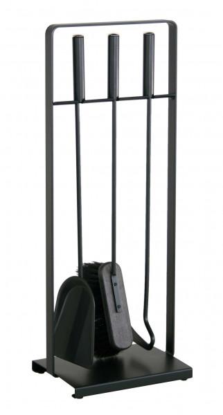 Kaminbesteck Heibi aus Stahl, 3- teilig, schwarz