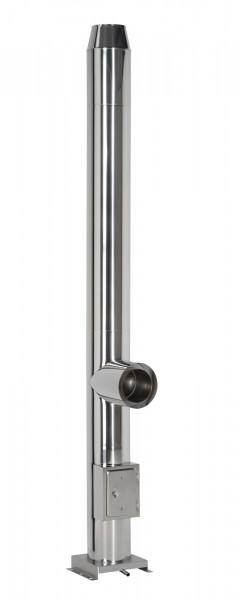 Edelstahlschornstein Design 14,2 m doppelwandig - eka cosmos D 25