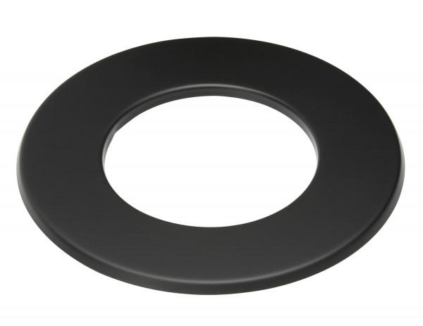 Wandrosette Rauchrohr Stahl Randbreite 50 mm schwarz