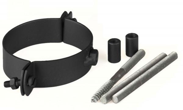 Halteschellen-Set für Pellet-Ofenrohr schwarz